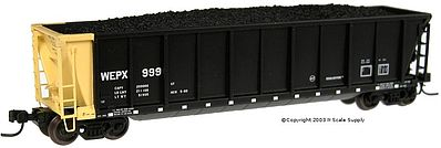 Bathtub Gondola WEPX -- N Scale Model Train Freight Car -- #43807