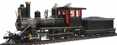 4-4-0 American, Wood Cab Unlettered, Painted -- On30 Scale Model Train Steam Locomotive -- #28303