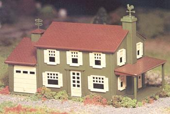 Two Story House Snap Kit -- O Scale Model Railroad Building -- #45622