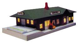 Sunnyvale Passenger Station Built-Up -- N Scale Model Railroad Building -- #45908