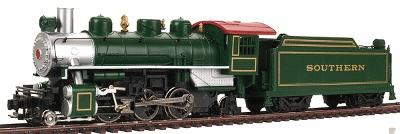 Prairie 2-6-2 with Tender Southern Green -- HO Scale Model Train Steam Locomotive -- #51504