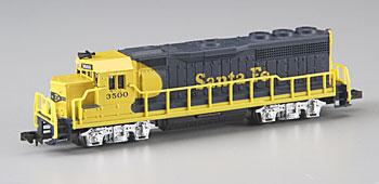 GP40 Santa Fe Yellow/Blue -- N Scale Model Train Diesel Locomotive -- #63552