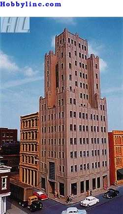 Spectrum Trade Tower -- HO Scale Model Railroad Building -- #88007
