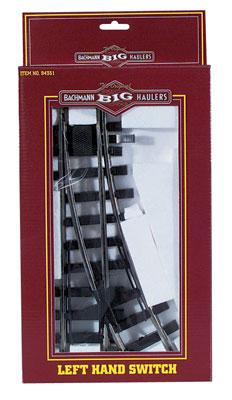 Manual Switch LH -- G Scale Steel Model Train Track -- #94351